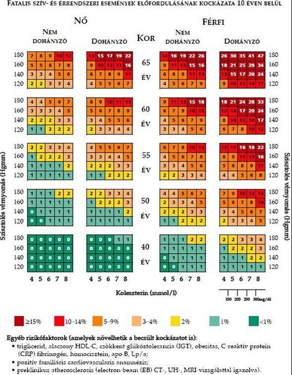 magas vérnyomás fokozatú osztályozás