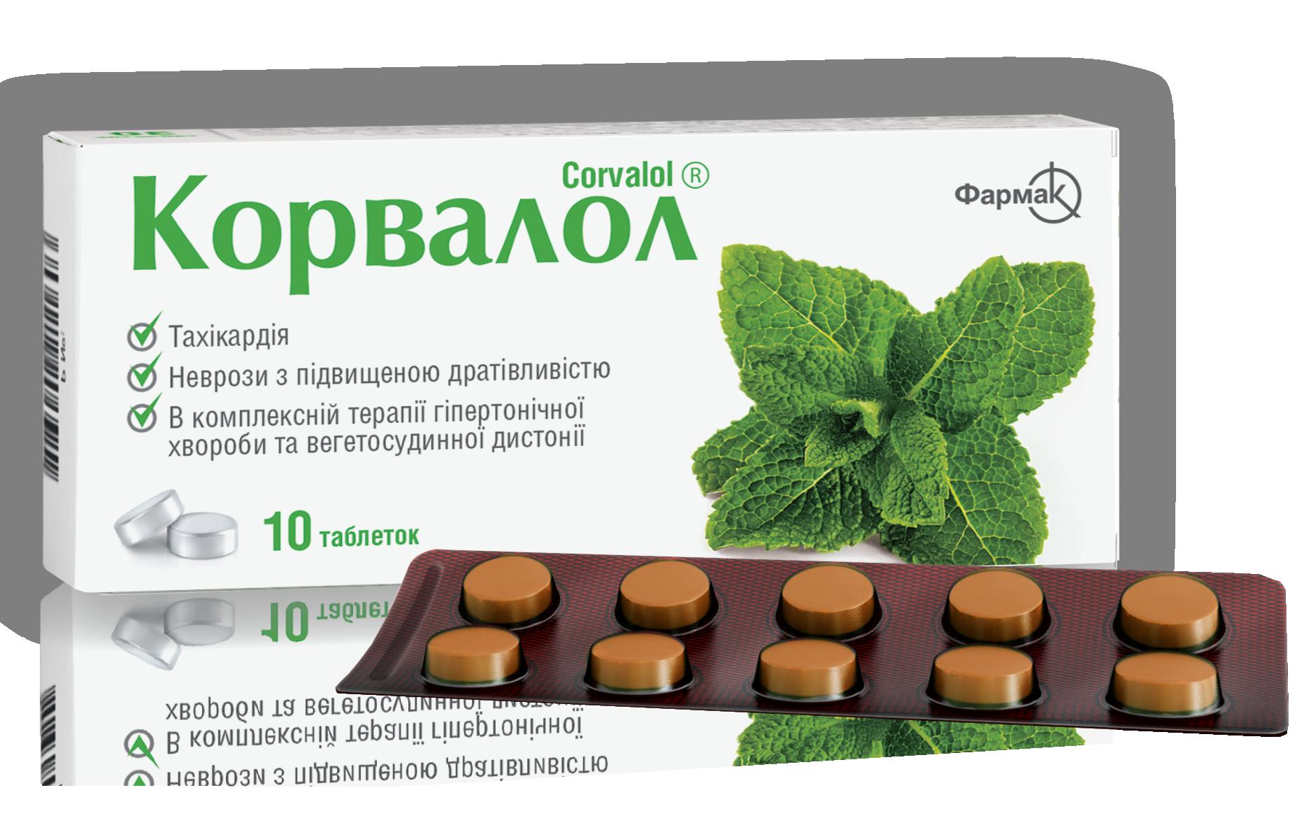 Tabletták és cseppek Corvalol: használati utasítás - Magas vérnyomás November