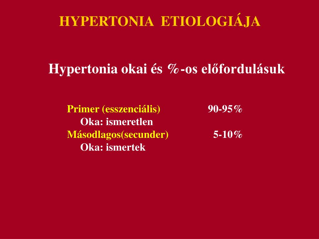 hipertónia okai annak előfordulásának