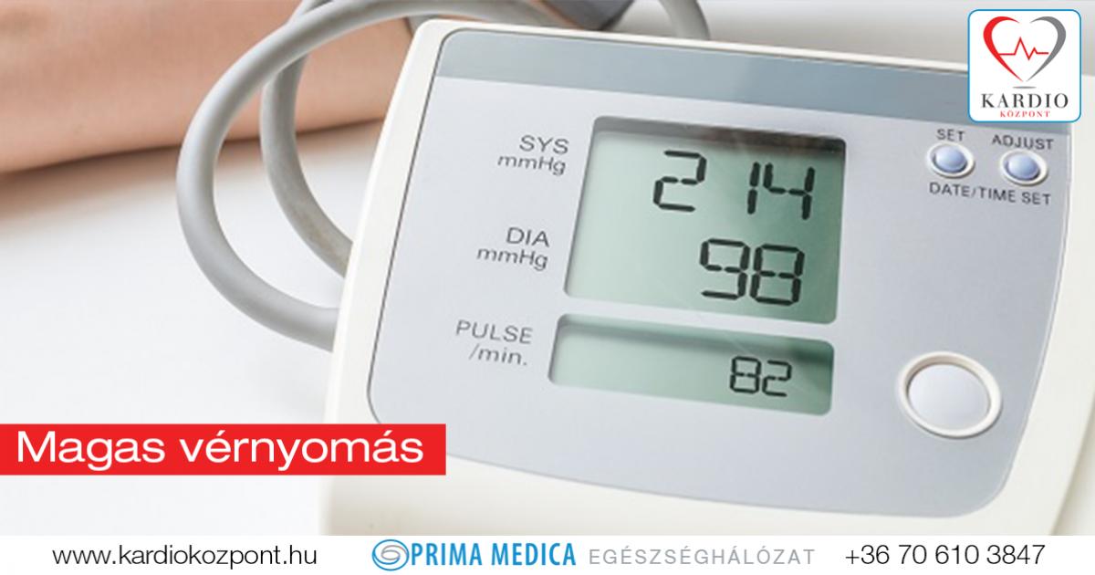 magas vérnyomás légszomj kezelése